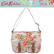 【新作!2009SS】キャスキッドソン【Cathkidston】 ショルダーバッグ CHISWICK FLOWERS 243445(SADDLE BAG W/LEATHER)