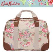【新作!2009SS】キャスキッドソン【Cathkidston】 ボストンバッグ CHISWICK FLOWERS 243322(HOLDALL W/LEATHER)